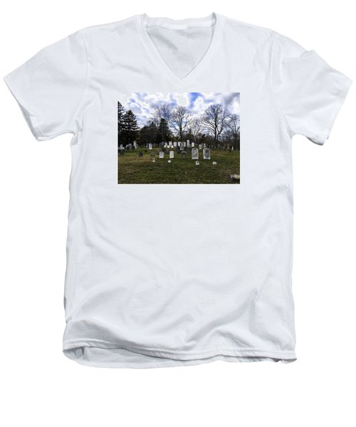 Old Town Cemetery Sandwich, Massachusetts Men's V-Neck T-Shirt