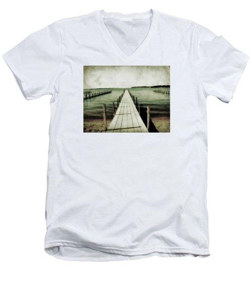 Okoboji Docks Men's V-Neck T-Shirt