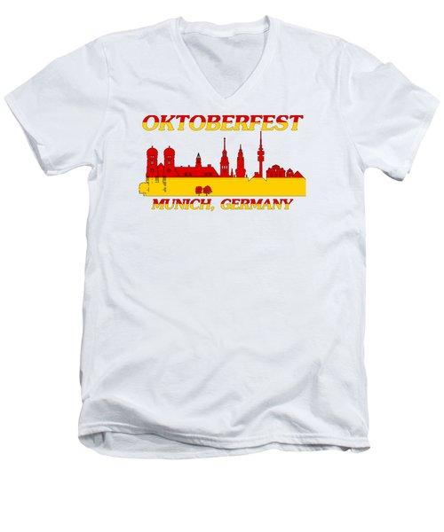 Oktoberfest Munich Germany Men's V-Neck T-Shirt