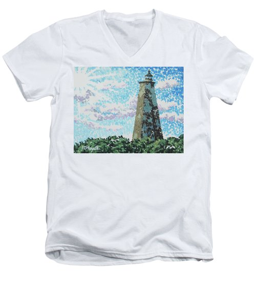 Old Baldy Lighthouse Men's V-Neck T-Shirt