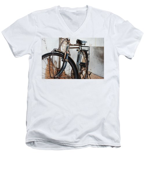 Old Bike II Men's V-Neck T-Shirt by Robert Meanor