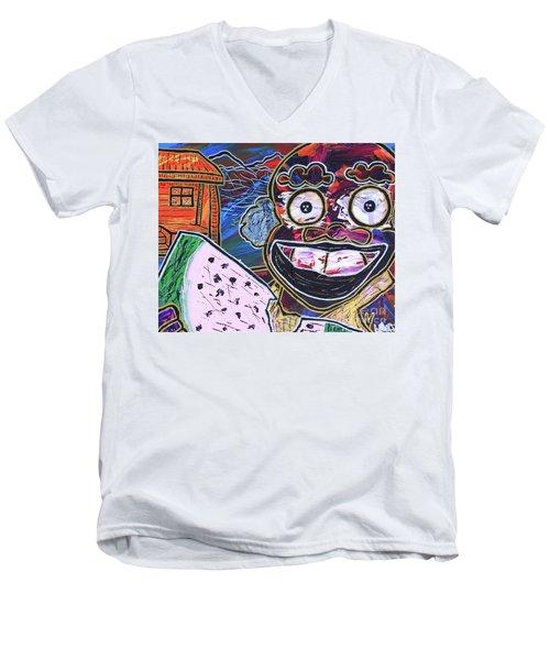 Old Boy Ben Men's V-Neck T-Shirt