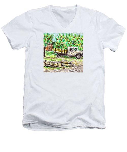 Old Farming Truck Men's V-Neck T-Shirt