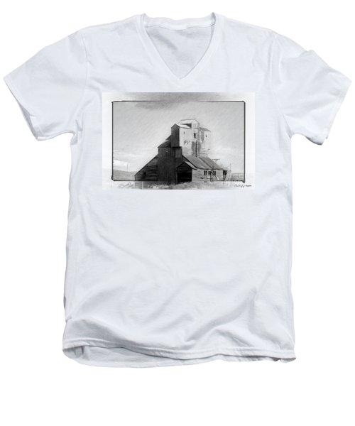 Old Grain Elevator Men's V-Neck T-Shirt