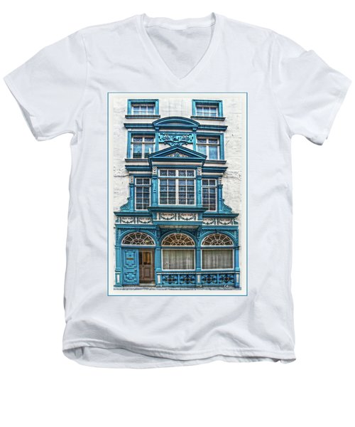 Men's V-Neck T-Shirt featuring the digital art Old Irish Architecture by Hanny Heim