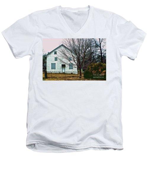 Old Kennett Mettinghouse Men's V-Neck T-Shirt by Sandy Moulder