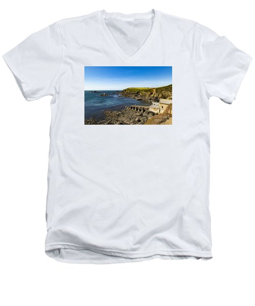 Men's V-Neck T-Shirt featuring the photograph Old Life Boat Station by Brian Roscorla