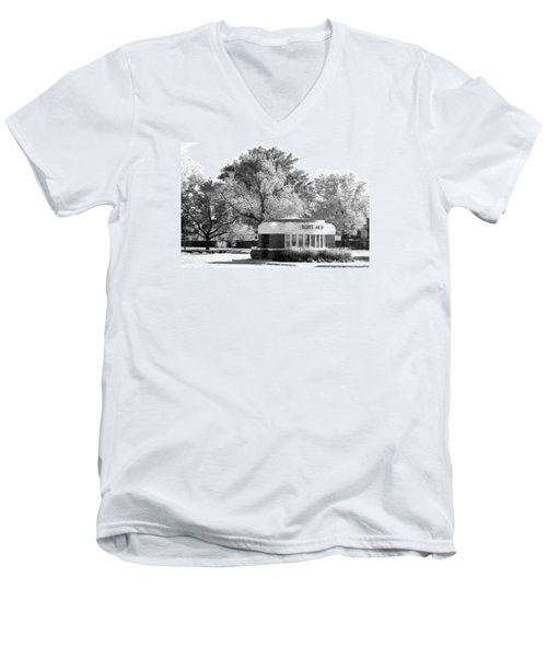 Old Main Gate Men's V-Neck T-Shirt by John Freidenberg