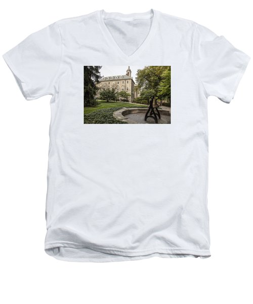 Old Main Penn State Bell  Men's V-Neck T-Shirt by John McGraw