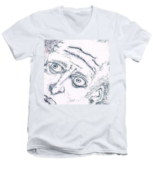 Old Man  Men's V-Neck T-Shirt by Dan Twyman
