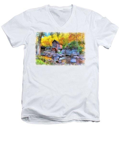Old Mill Aquarelle Men's V-Neck T-Shirt