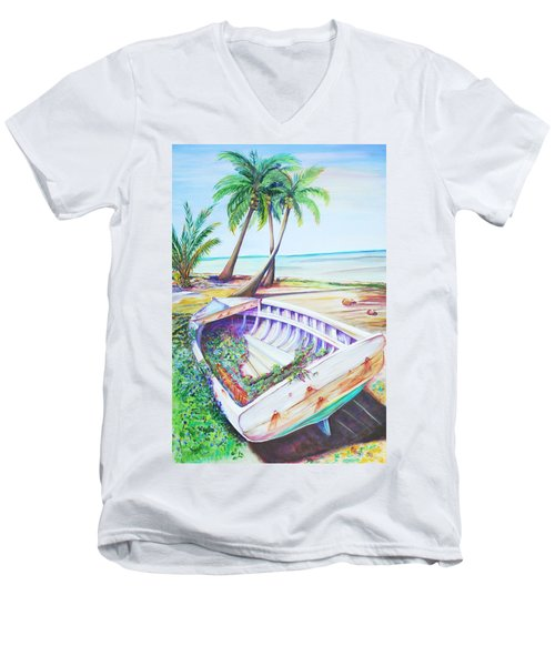 Old Paint Men's V-Neck T-Shirt by Patricia Piffath