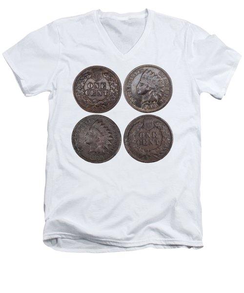 Old Pennies 2016-1 Men's V-Neck T-Shirt