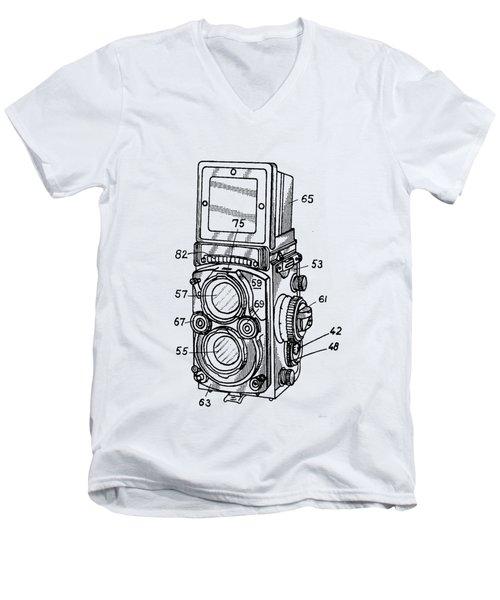 Old Rollie Vintage Camera T-shirt Men's V-Neck T-Shirt