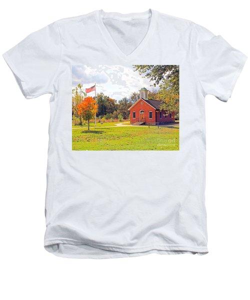 Old Schoolhouse-wildwood Park Men's V-Neck T-Shirt