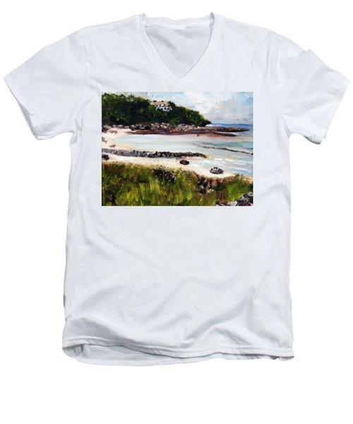 Old Silver Beach Falmouth Men's V-Neck T-Shirt
