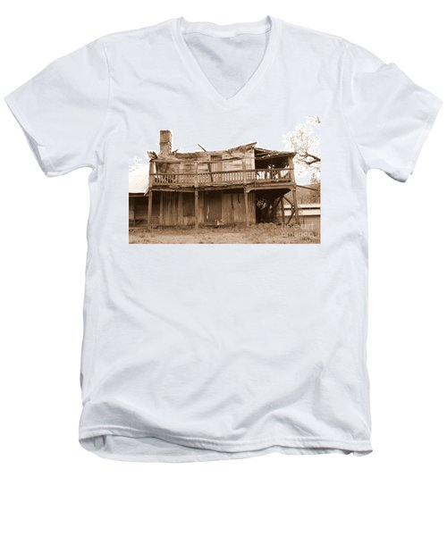 Old Stagecoach Stop Men's V-Neck T-Shirt by Marie Neder