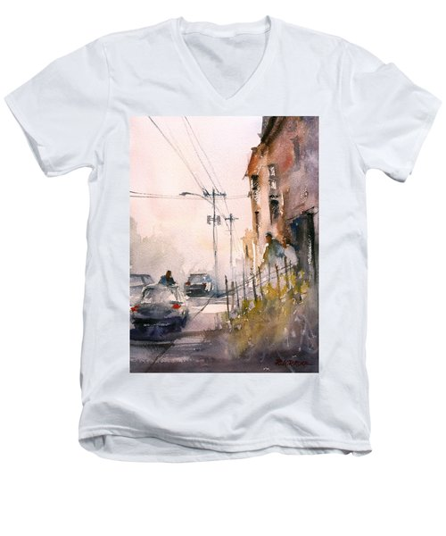 Old Wautoma Hotel Men's V-Neck T-Shirt