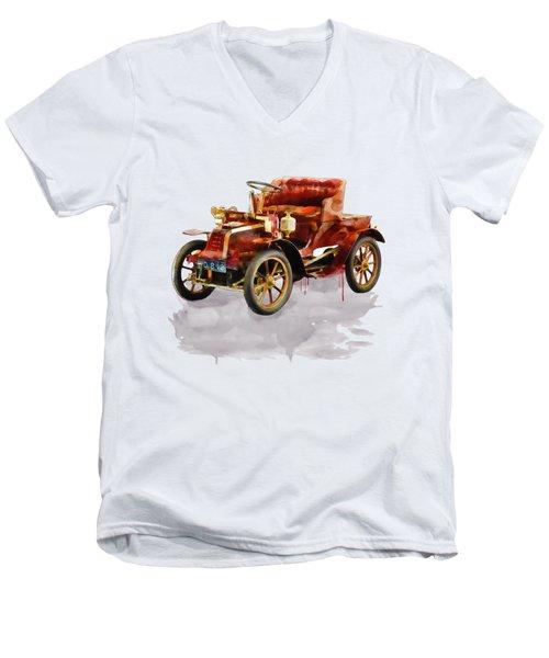 Oldtimer Car Watercolor Men's V-Neck T-Shirt