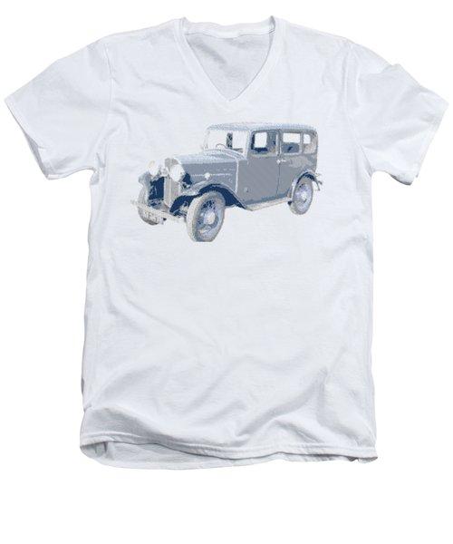 Oldtimer - Hatching Parallel Men's V-Neck T-Shirt