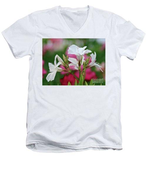 Oleander Casablanca 1 Men's V-Neck T-Shirt