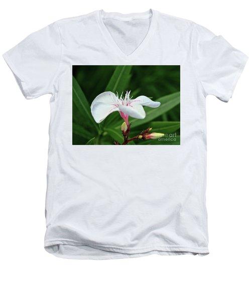 Oleander Harriet Newding  1 Men's V-Neck T-Shirt by Wilhelm Hufnagl