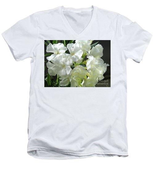 Oleander Mont Blanc 2 Men's V-Neck T-Shirt by Wilhelm Hufnagl