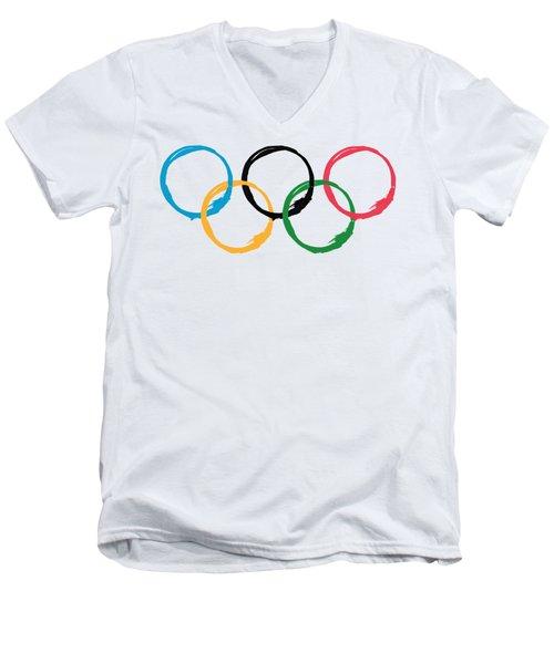 Olympic Ensos Men's V-Neck T-Shirt