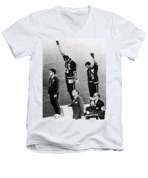 Olympic Games, 1968 Men's V-Neck T-Shirt
