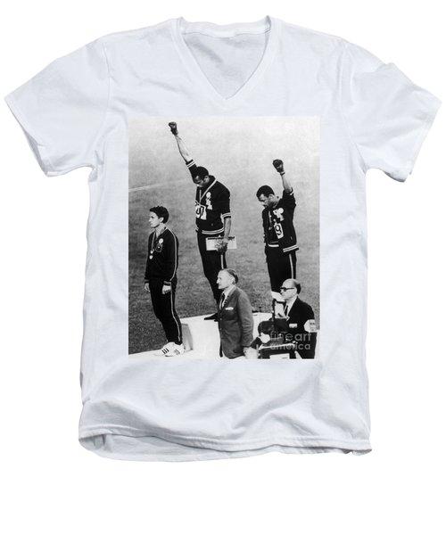 Olympic Games, 1968 Men's V-Neck T-Shirt