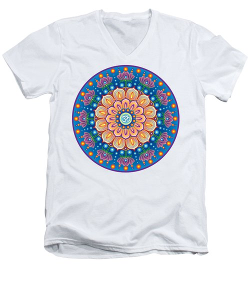 Om Mandala Men's V-Neck T-Shirt