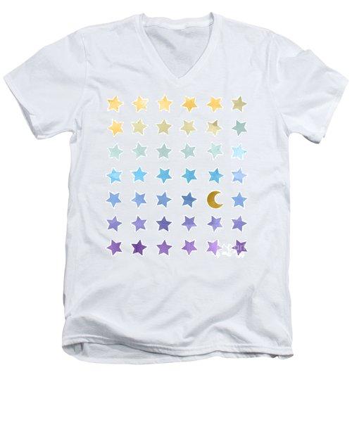 Ombre Cosmos Men's V-Neck T-Shirt