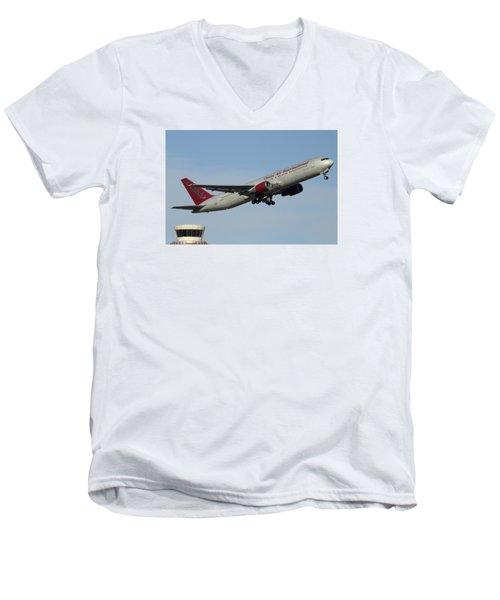 Omni Air International Boeing 767-319 N396ax Phoenix Sky Harbor January 2 2015 Men's V-Neck T-Shirt by Brian Lockett