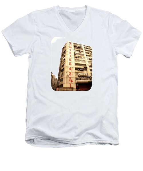 Men's V-Neck T-Shirt featuring the photograph On A Dozen Different Levels by Ethna Gillespie