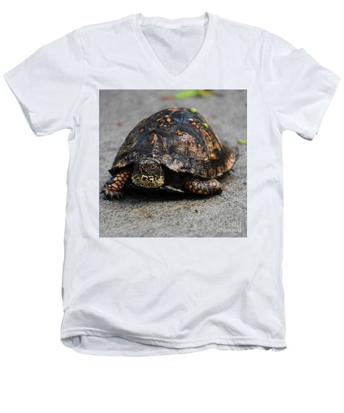Men's V-Neck T-Shirt featuring the photograph On A Mission by Skip Willits