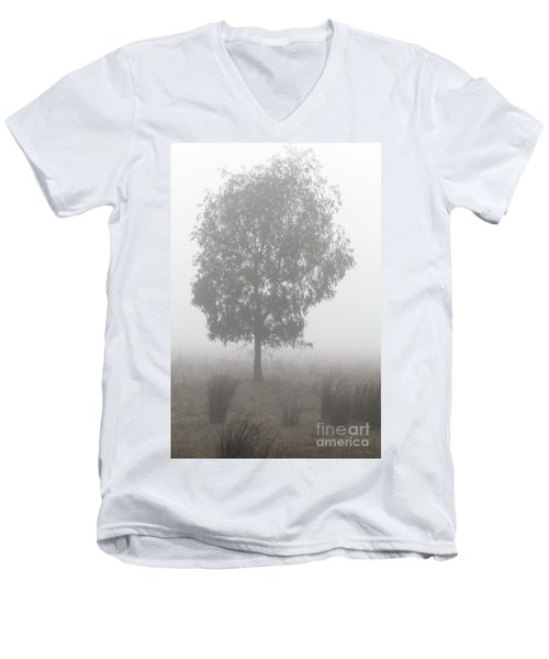 Men's V-Neck T-Shirt featuring the photograph On A Winter's Morning by Linda Lees