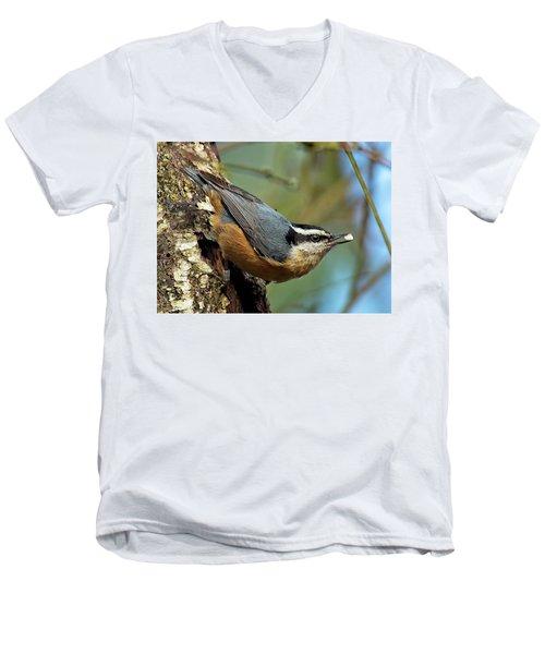 On Alert Men's V-Neck T-Shirt by Sheldon Bilsker