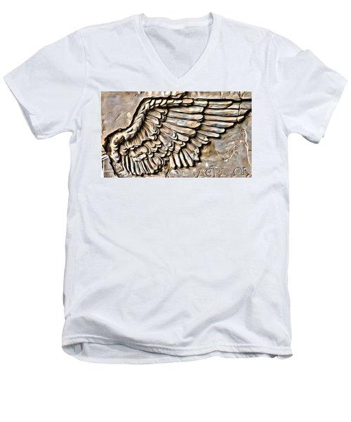On Angels Wings Men's V-Neck T-Shirt