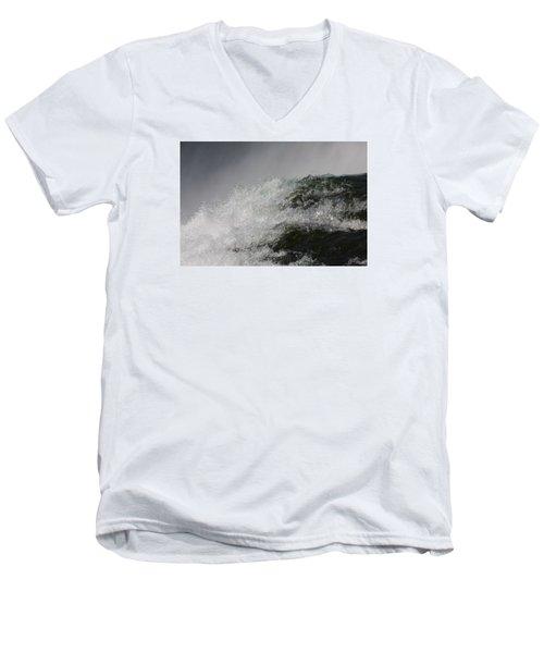 On Edge Men's V-Neck T-Shirt by Vadim Levin