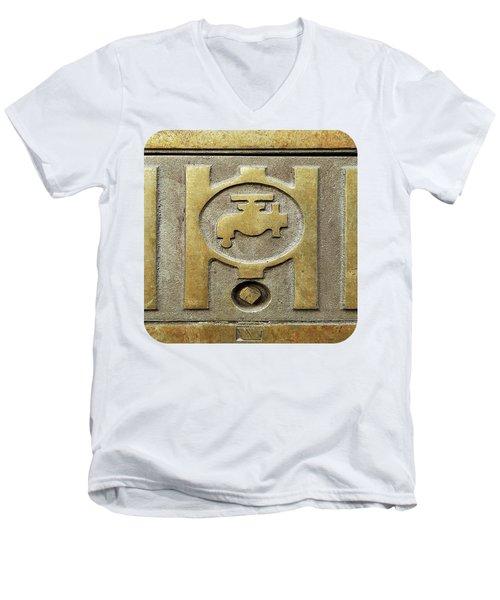 On Tap Men's V-Neck T-Shirt by Ethna Gillespie