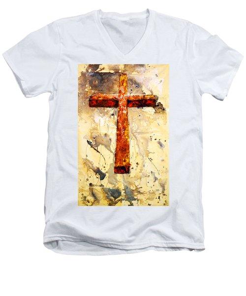 On That Old Rugged Cross Men's V-Neck T-Shirt