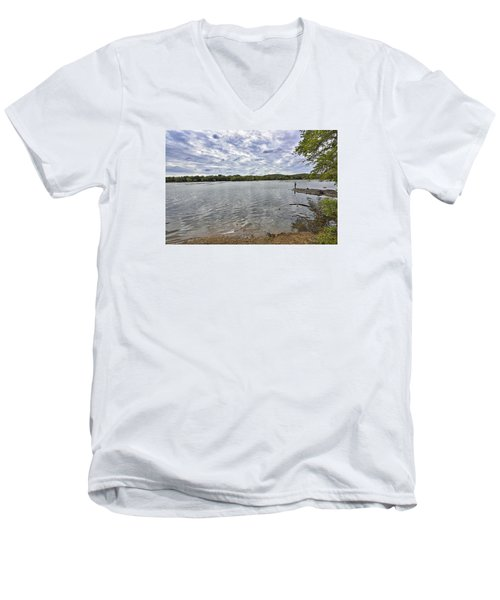 On The Banks Of The Potomac River Men's V-Neck T-Shirt
