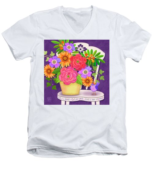 On The Bright Side - Flowers Of Faith Men's V-Neck T-Shirt