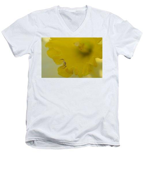 On The Edge Men's V-Neck T-Shirt by Janet Rockburn