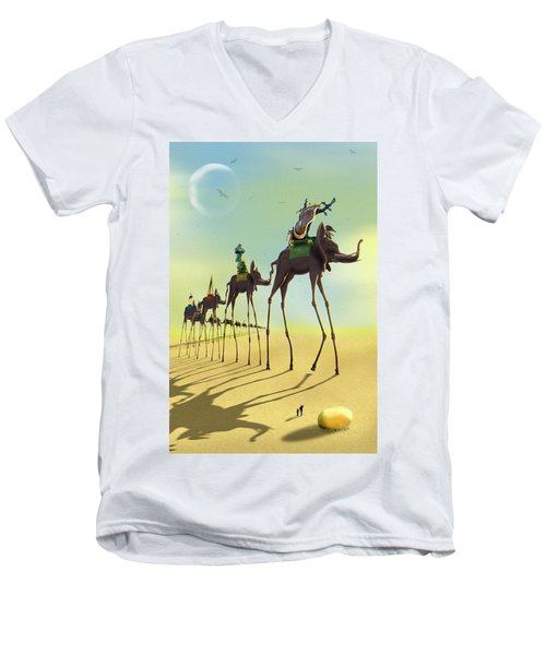 On The Move 2 Men's V-Neck T-Shirt by Mike McGlothlen