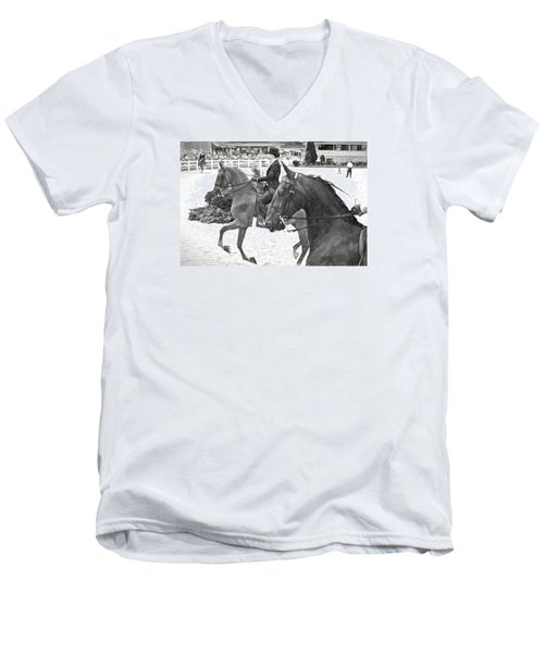 On The Outside Charcoal Men's V-Neck T-Shirt