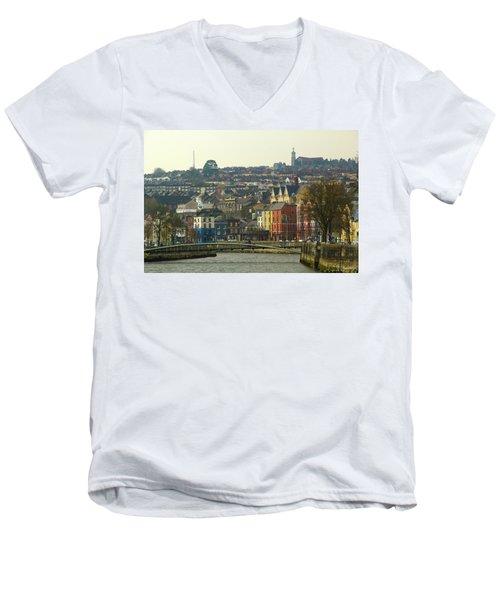 On The River Lee, Cork Ireland Men's V-Neck T-Shirt