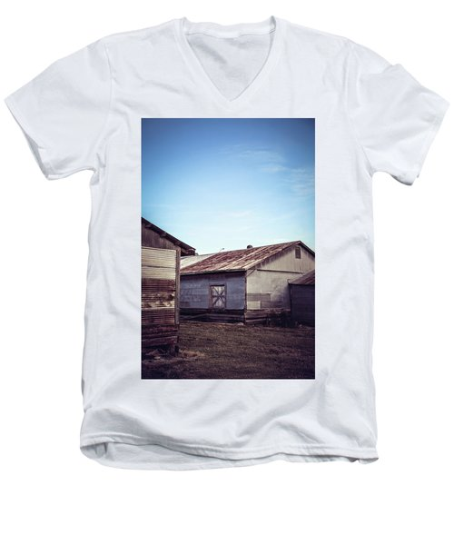 Men's V-Neck T-Shirt featuring the photograph Once Industrial - Series 2 by Trish Mistric