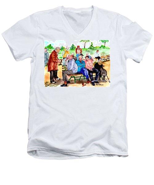 Once Upon A Park Bench Men's V-Neck T-Shirt