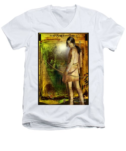Once Was Men's V-Neck T-Shirt by Shadowlea Is
